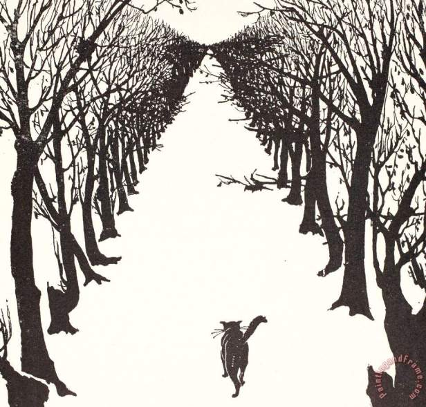 The Cat That Walked By Himself Painting by Rudyard Kipling; The Cat That Walked By Himself Art Print for sale